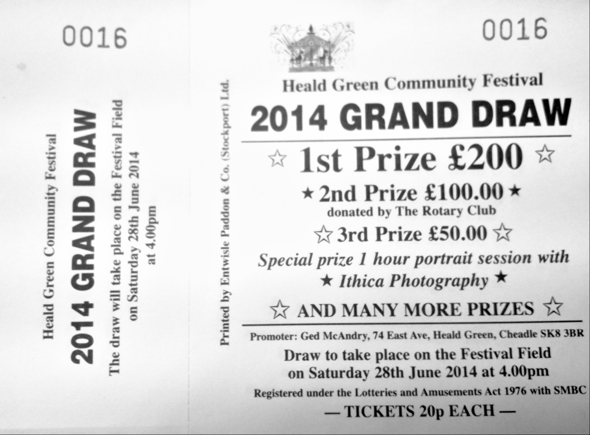 2014 GRAND DRAW tickets nowavailable